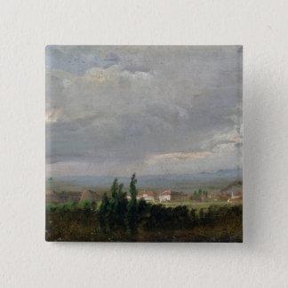 Thunderstorm Near Dresden, 1830 15 Cm Square Badge