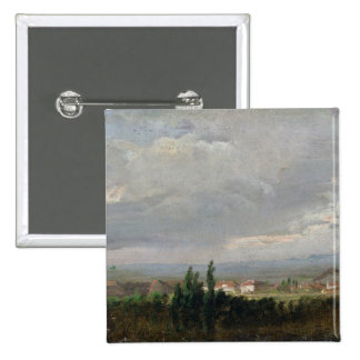 Thunderstorm Near Dresden, 1830 15 Cm Square Badge