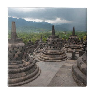 Thunderstorm over Borobudur Tile