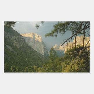 Thunderstorm over Yosemite Valley Rectangular Sticker
