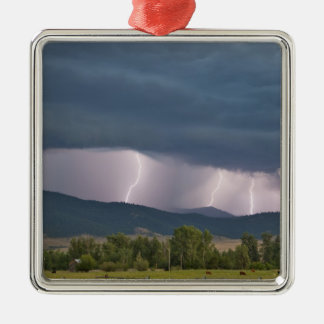 Thunderstorm produced lightning in the Jocko Christmas Ornament