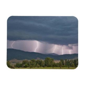 Thunderstorm produced lightning in the Jocko Magnet