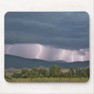 Thunderstorm produced lightning in the Jocko Mouse Mat