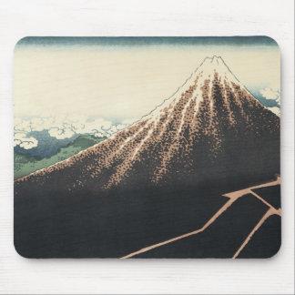 Thunderstorms Beneath The Summitt, Hokusai, 1830 Mouse Pad