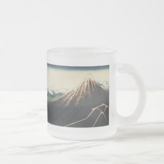 Thunderstorms Beneath The Summitt, Hokusai, 183... Frosted Glass Mug