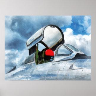 Thunderstreak Turbojet Cockpit Poster