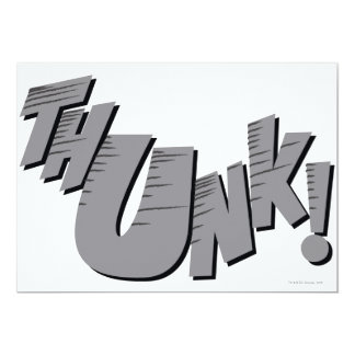 THUNK! 13 CM X 18 CM INVITATION CARD