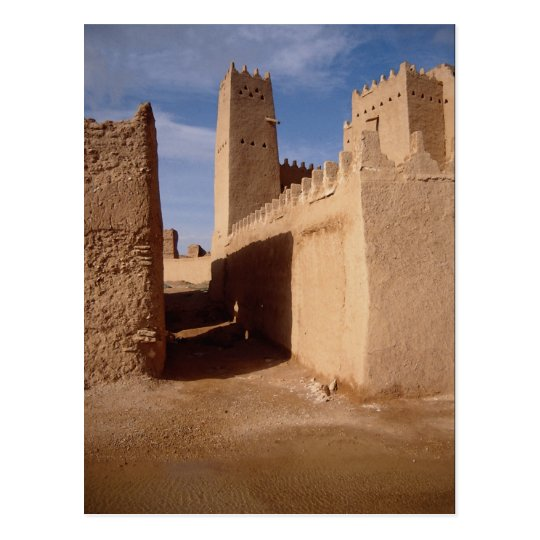 Thunyan Palace, old city, Najd, Saudi Arabia Postcard