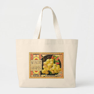Thurber Muscat Grapes - Vintage Crate Label Jumbo Tote Bag