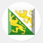 Thurgau Flag Gem Round Sticker