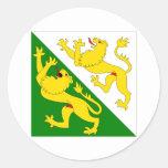 Thurgau Flag Round Sticker