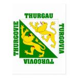 Thurgau Switzerland Canton Flag Postcard
