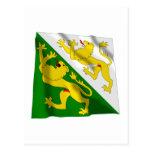 Thurgau Waving Flag Postcard
