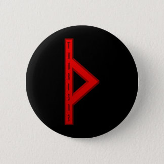 Thurisaz Rune red 6 Cm Round Badge