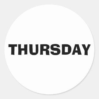 Thursday Ad Lib White Sticker by Janz