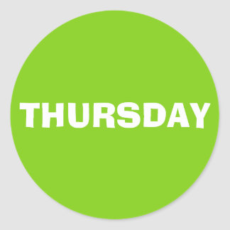 Thursday Ad Lib Yellow Green Sticker by Janz