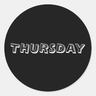 Thursday Alphabet Soup Black Sticker by Janz