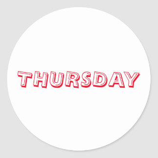 Thursday Alphabet Soup Red White Sticker by Janz