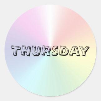 Thursday Alphabet Soup Shimmer Sticker by Janz