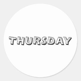 Thursday Alphabet Soup White Sticker by Janz