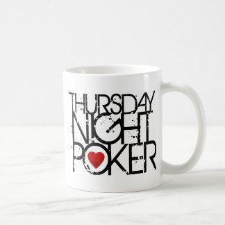 Thursday Night Poker Basic White Mug
