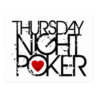 Thursday Night Poker Postcard