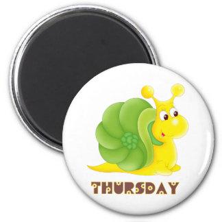 Thursday Snail Magnet