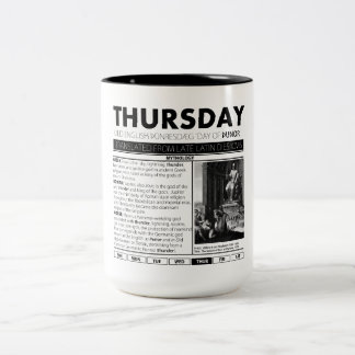 THURSDAY & THE MYTH BEHIND IT:  one of seven cups