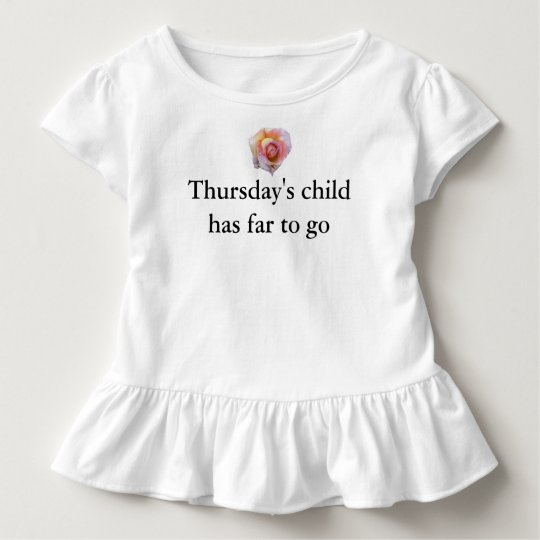 Thursdays Child Toddler T-Shirt