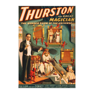 Thurston - Demons & Donkey Vanish Trick Magic Canvas Print