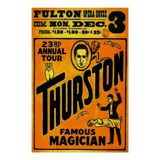 Thurston, Famous Magician 23rd annual tour. Poster