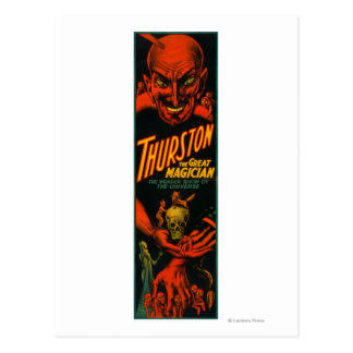 """Thurston """"Great Magician Show of the Universe"""" Post Card"""