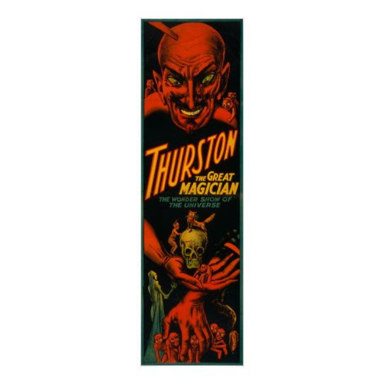 """Thurston """"Great Magician Show of the Universe"""" Poster"""