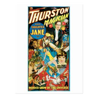 Thurston Magician & Jane ~ Vintage Magic Act Post Cards