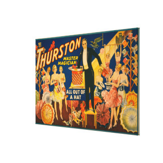 "Thurston, Master Magician ""Out of a Hat"" Magic Canvas Print"