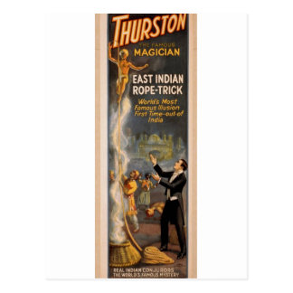 Thurston s Eastern Indian Rope Trick Retro Thea Postcards