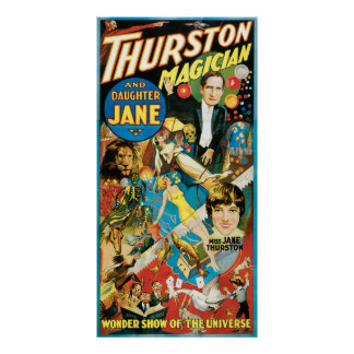 Thurston The Great Magician & Daughter Jane Poster