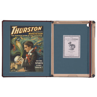 Thurston the Great Magician Holding Skull Magic Case For iPad