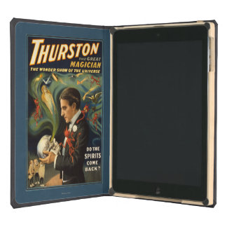 Thurston the Great Magician Holding Skull Magic Case For iPad Air