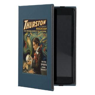 Thurston the Great Magician Holding Skull Magic Cover For iPad Mini