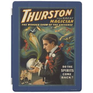 Thurston the Great Magician Holding Skull Magic iPad Cover