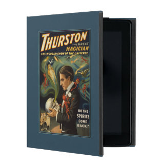 Thurston the Great Magician Holding Skull Magic iPad Folio Case