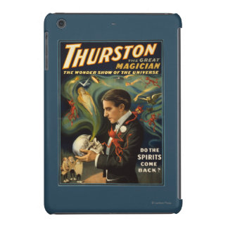 Thurston the Great Magician Holding Skull Magic iPad Mini Cases