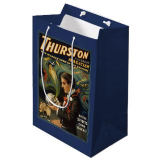 Thurston the Great Magician Holding Skull Magic Medium Gift Bag