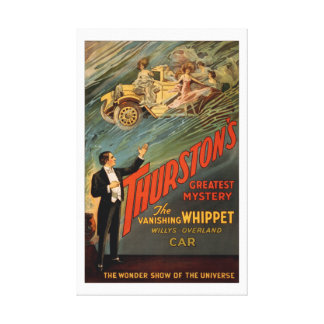 Thurston - The Vanishing Whippet Stretched Canvas Print
