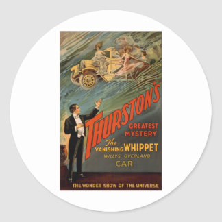 Thurston - The Vanishing Whippet Round Sticker