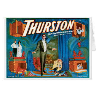 Thurston World's Greatest Magician ~ Vintage Act Card