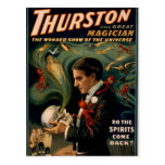 Thurston's, 'Do the spirits come back?' Retro Thea Postcard