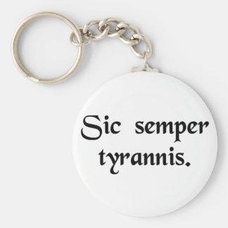 Thus always to tyrants. basic round button key ring