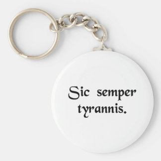 Thus always to tyrants key chains